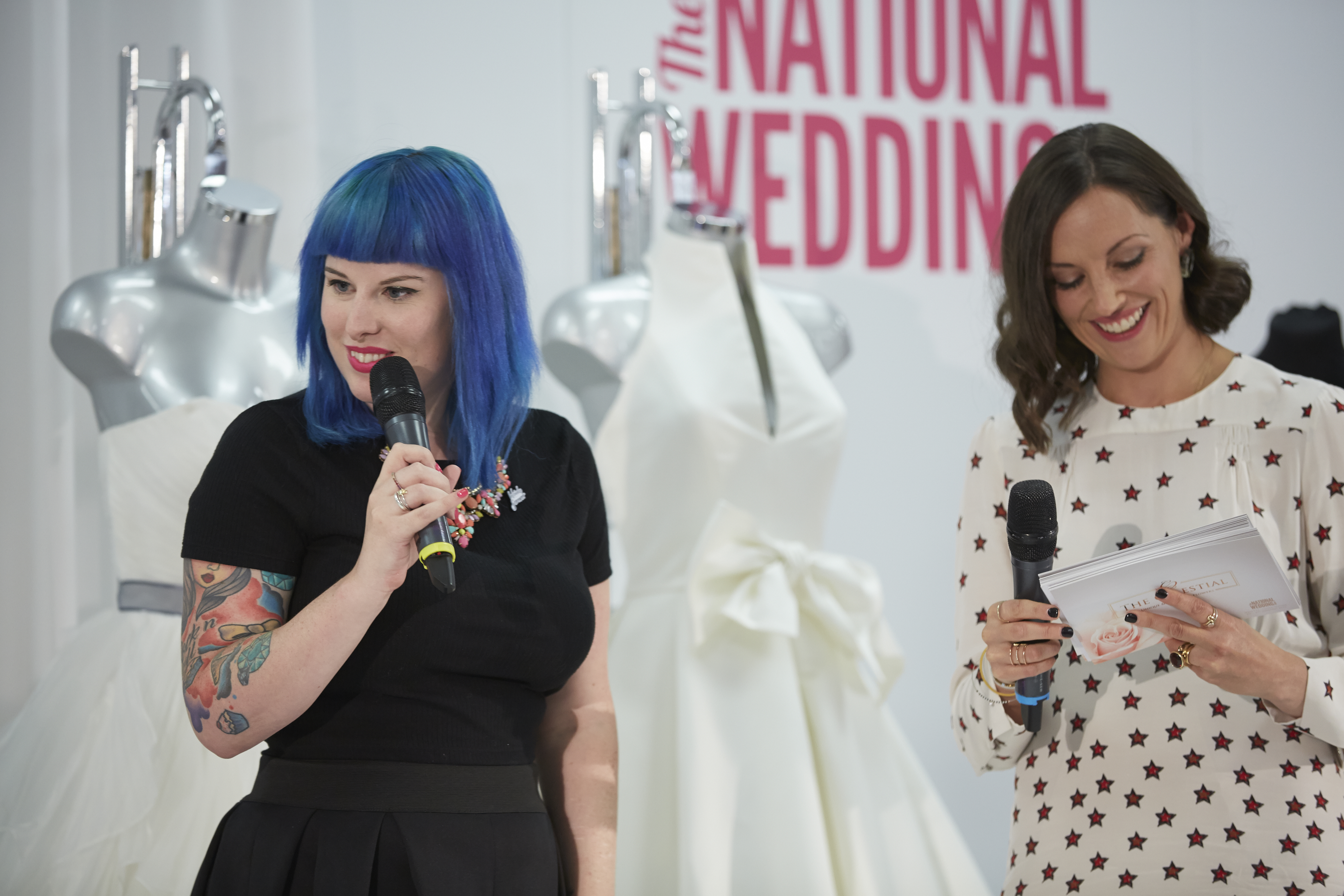 The Wedding Theatre - Kat Williams from Rock n Roll Bride and presenter Kat Byrne