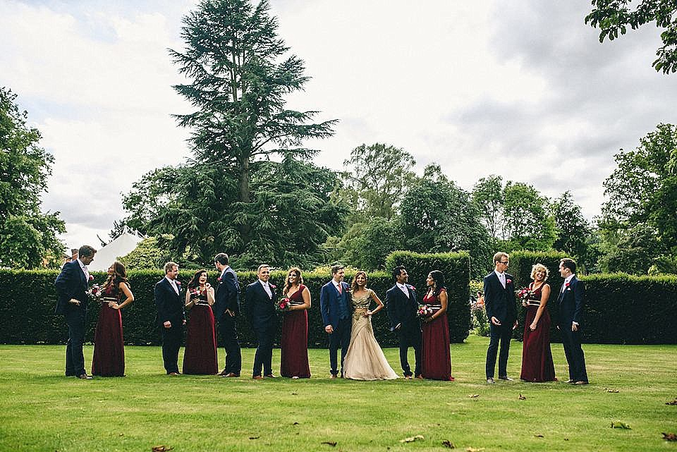 Red Navy and Gold Wedding | Langstowe Hall | Miki Photography | www.nubride.com_0530