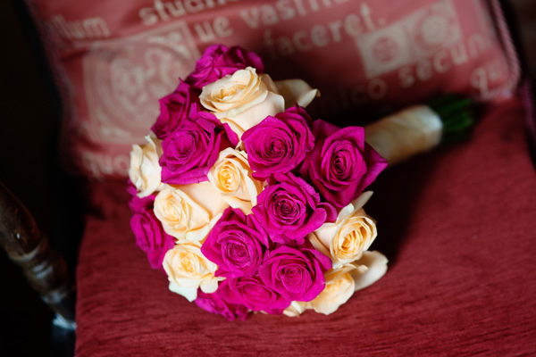 Elegant Champagne Gold And Fuchsia Pink Wedding At Quendon