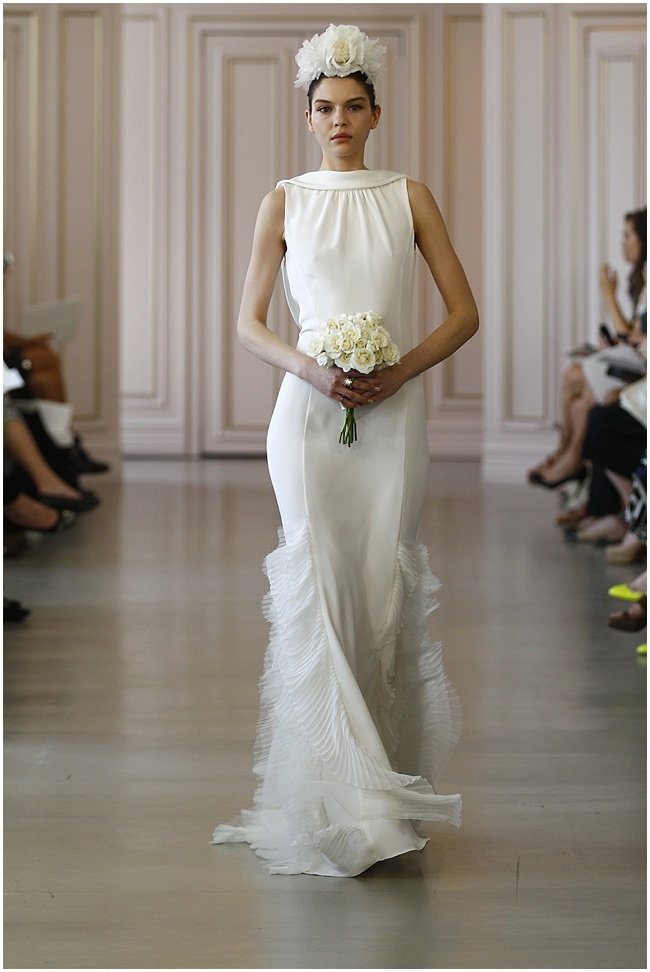 Oscar de la renta 2016 wedding dress collection nu bride for Oscar de la renta short wedding dress