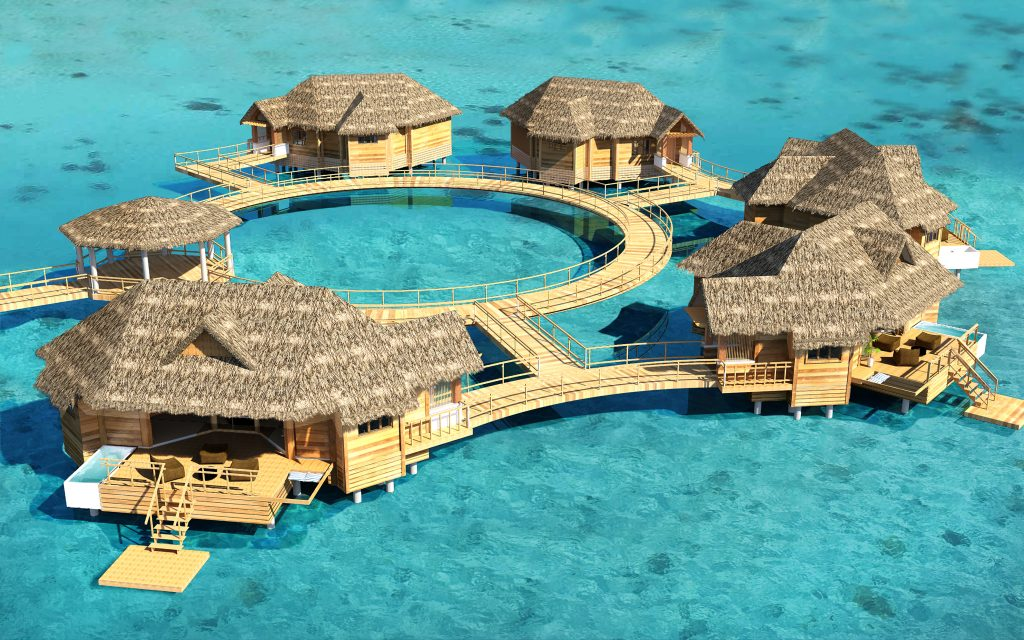 [HQ]_Sandals Over Water Suites Artist Impression Aerial 4