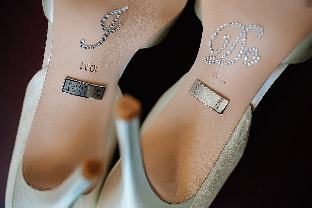 Bidgley Mischka wedding shoes