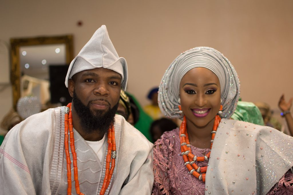 Nigerian bride and groom traditional wedding ceremony