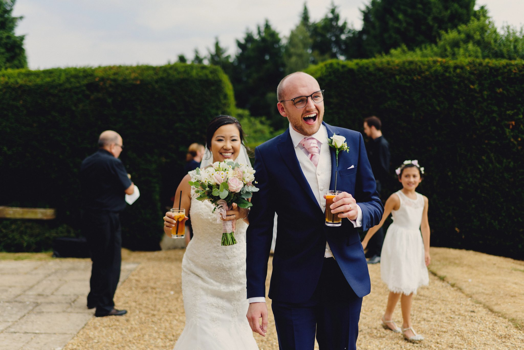 Christian wedding ceremony Fun Elegant British Chinese Wedding at Hartsfield Manor