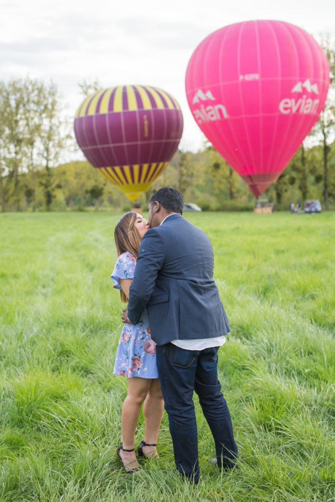 Up Up and Away: A Romantic Paris Proposal in a Hot Air