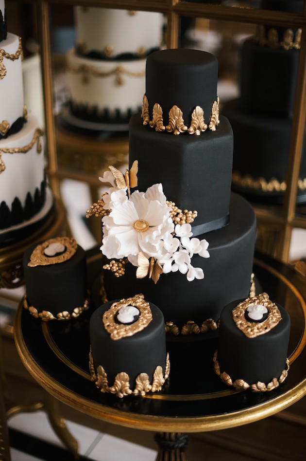 black white gold wedding cake getting to elizabeth solaru elizabeth s cake 11906